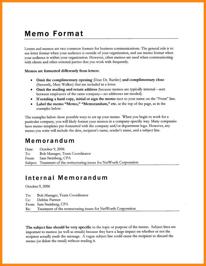 memo letter format