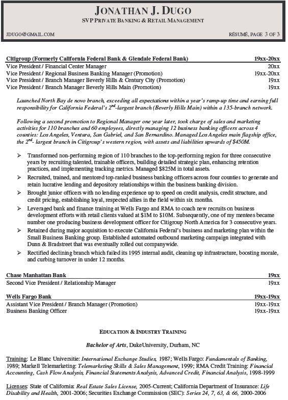 Investment Senior Investment Banking Resume Resume Commercial ...