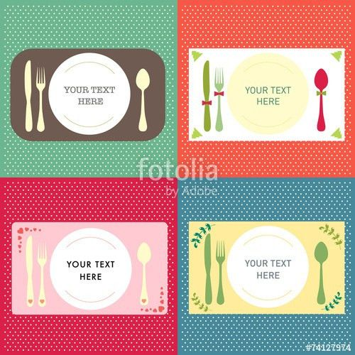 "Invitation card template background dinner concept"" Stock image ..."