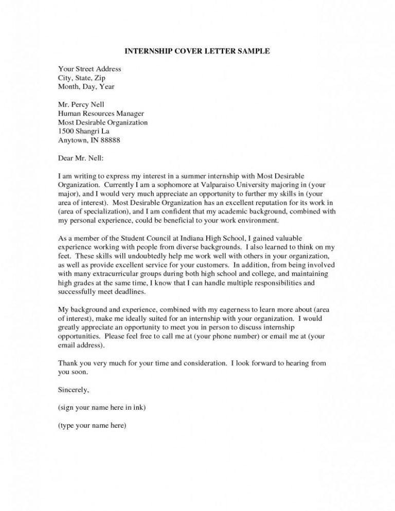 Internship Cover Letter And Resume Template. resume informatica ...