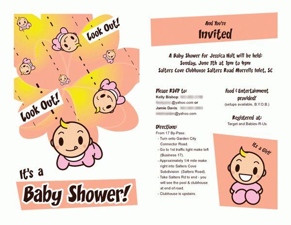 work baby shower invite work baby shower invitation wording ...