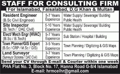 Civil / HVAC Engineers, GIS & Town Planners Jobs in Pakistan 2015 ...