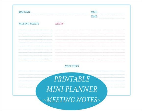 7 Free Meeting Minutes Templates - Excel PDF Formats