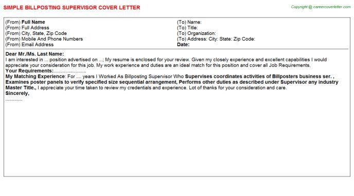 Lpo Cover Letters