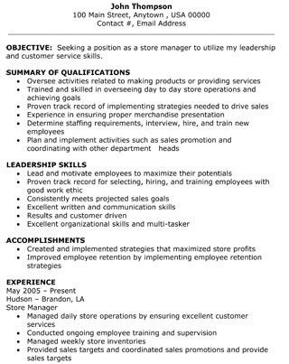 retail assistant manager resume - thebridgesummit.co