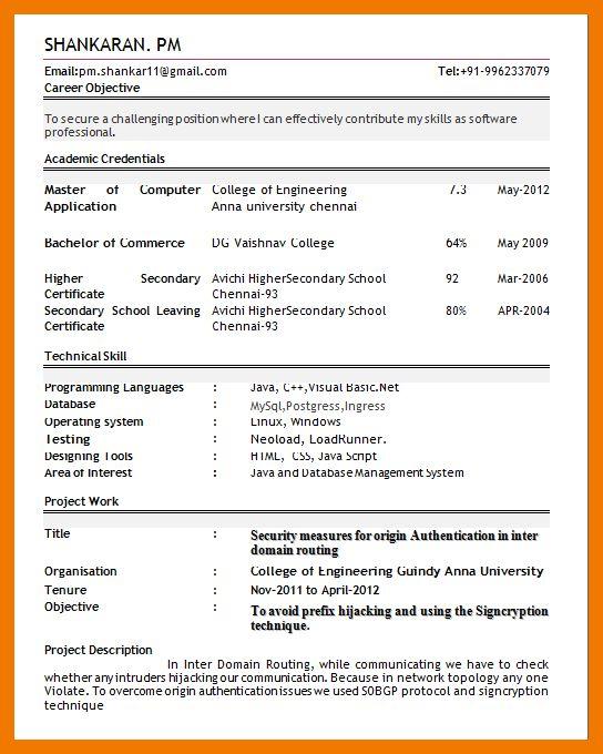 5+ best resume format for freshers pdf | mailroom clerk