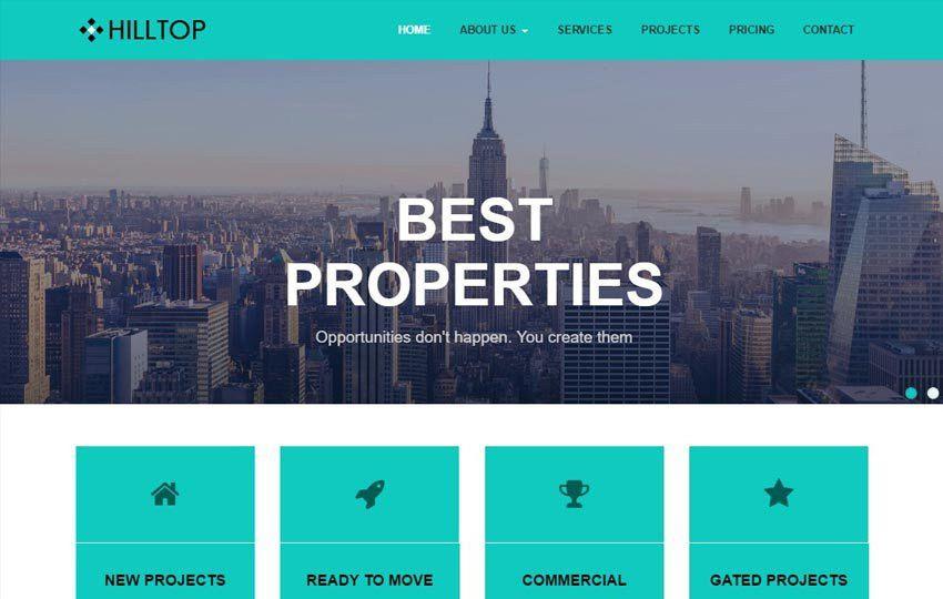 Real Estate Bootstrap Free HTML Web Template - WebThemez