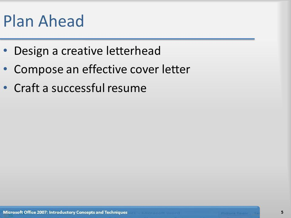 Creating a Cover Letter and a Resume - ppt download
