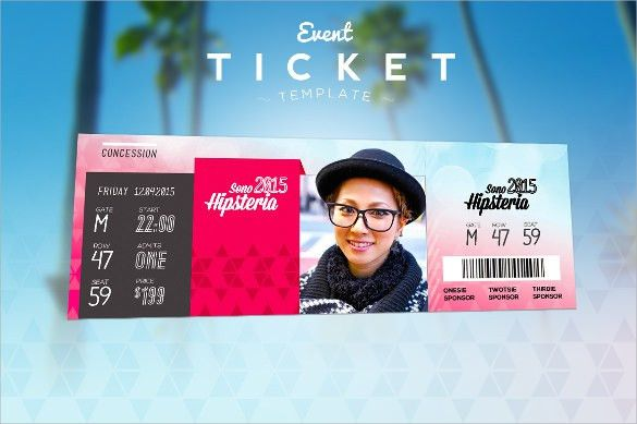 Ticket Template - 23+ Download Documents in PDF , PSD