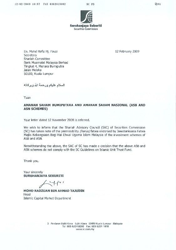Sample Official Letter Malaysia - Resume Acierta.us