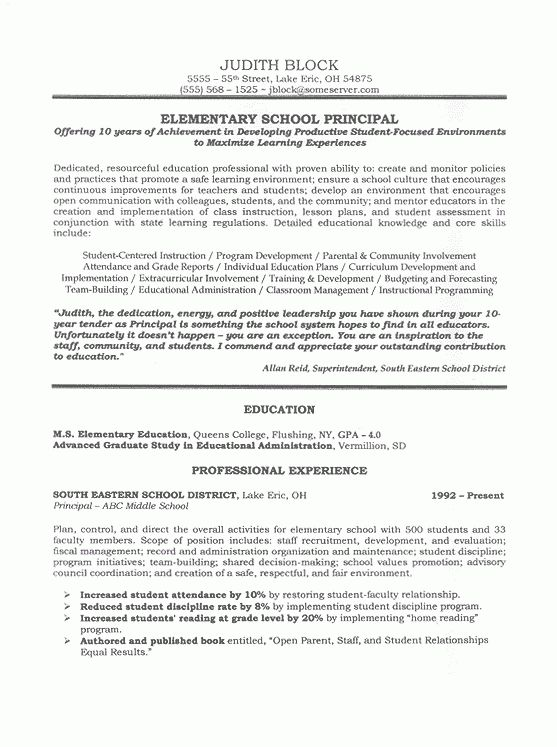 principal resume template 5 free word pdf document downloads ...