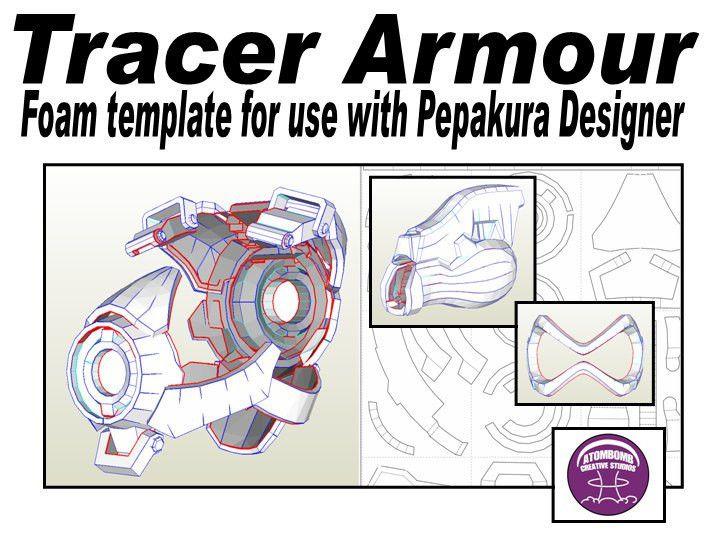 Tracer Template for EVA foam .pdf file and .pdo file