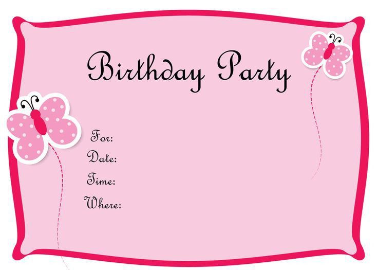 351 best Birthday Invitation for Kids images on Pinterest | Free ...