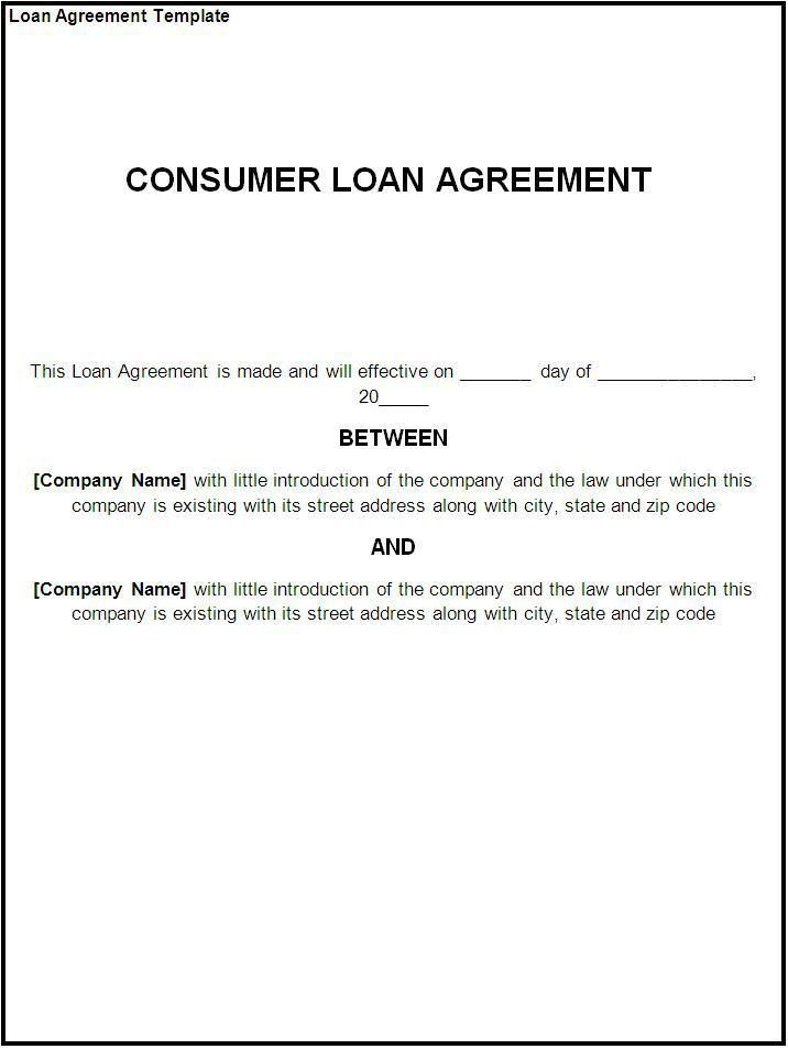 Loan Agreement Sample Free  Loan Agreement Templates To Write