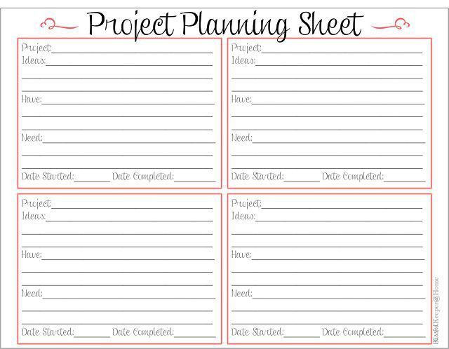 Home project planner template - Home and home ideas