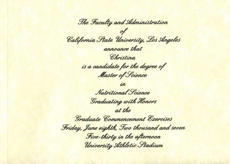 Graduate Invites: Stylish College Graduation Invitation Wording ...