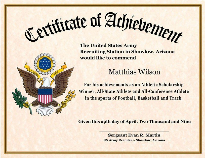 Certificate of achievement examples 8 certificate of achievement achievement award template custom designed military certificates yadclub
