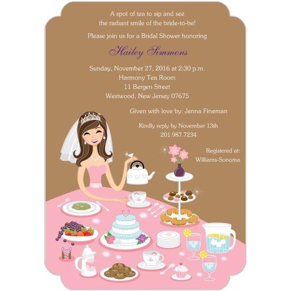 Tea Party Bridal Shower Invitations Templates