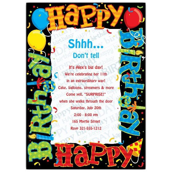 Happy Birthday Invitation | badbrya.com
