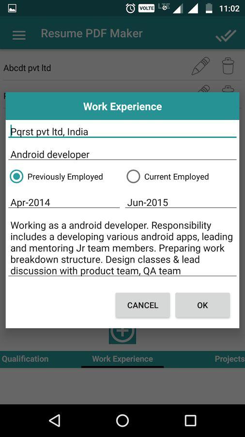 Resume PDF Maker / CV Builder - Android Apps on Google Play