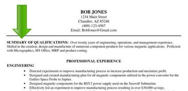 examples of resume qualifications how to write a summary of