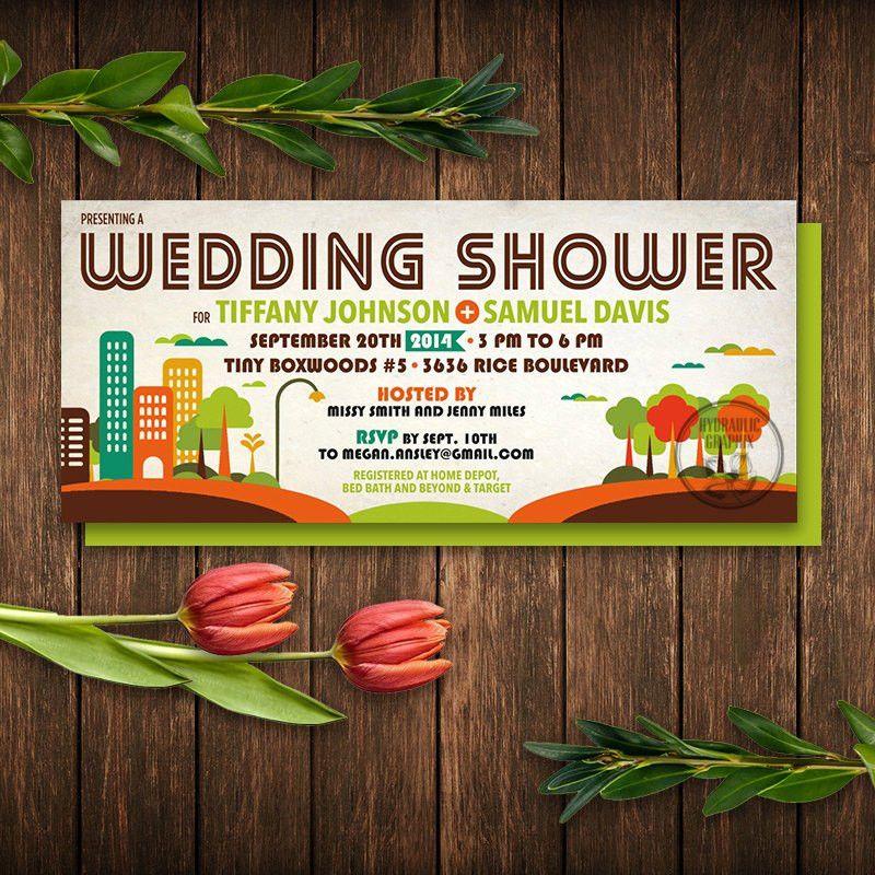 Music Festival Ticket Invitation Wedding Shower Printable
