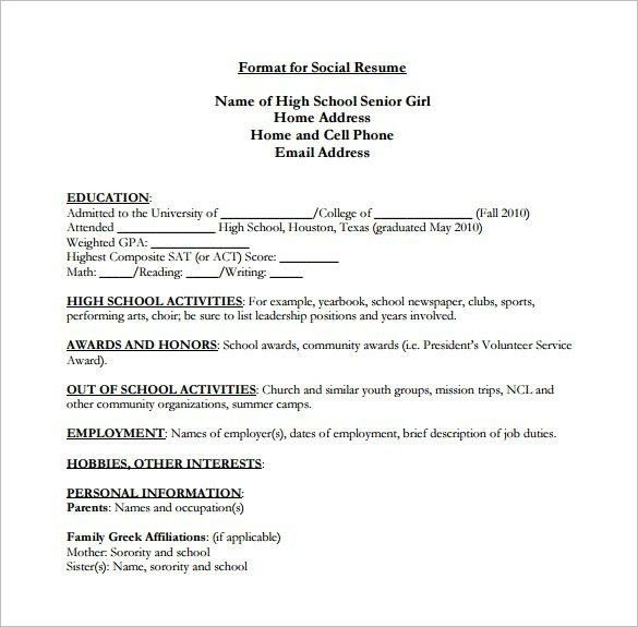 Include High School On Resume - Best Resume Collection