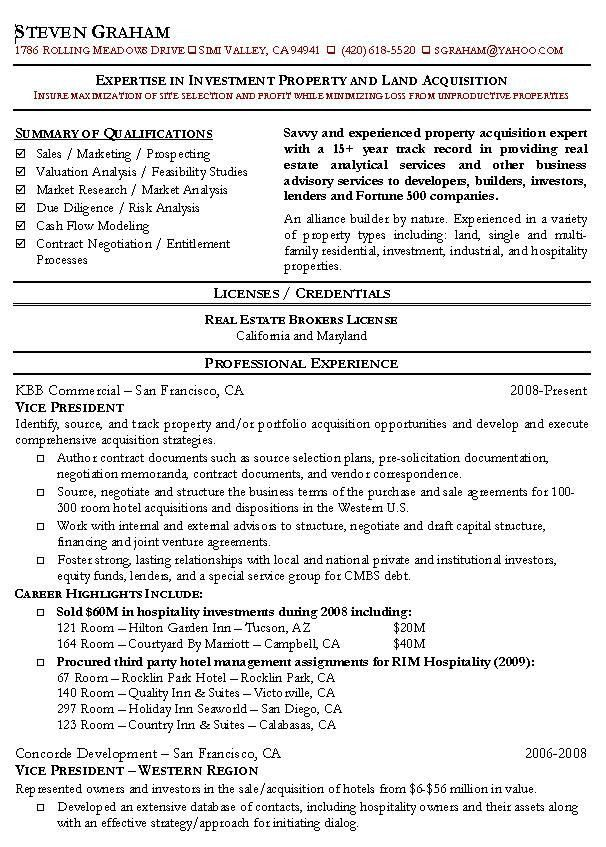 Real Estate Agent Resume Example: Realtor Sample Resumes