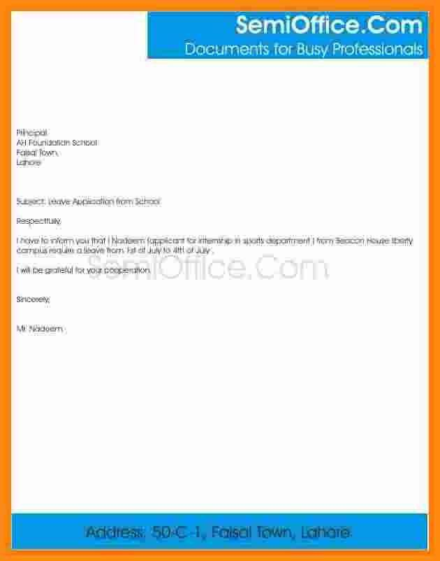 9+ format of leave application | musicre sumed
