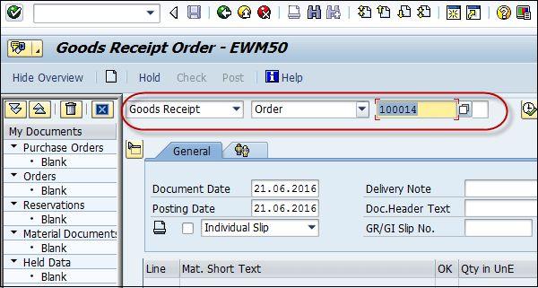 SAP PP Goods Receipt