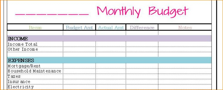 5+ monthly budget templates | Outline Templates