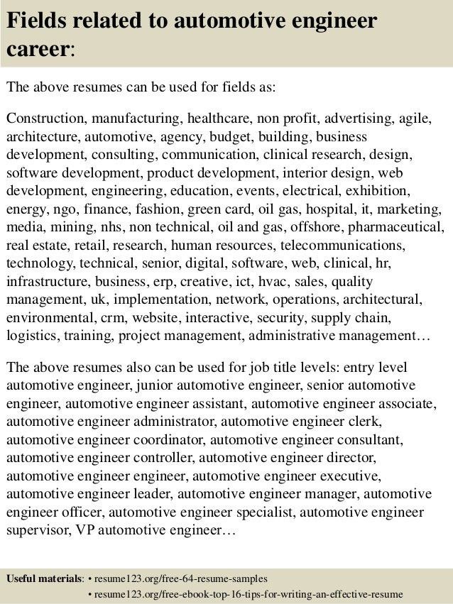 auto mechanic resume examples