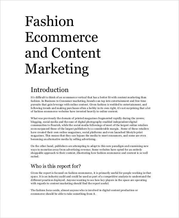 9+ Content Marketing Examples | Free & Premium Templates
