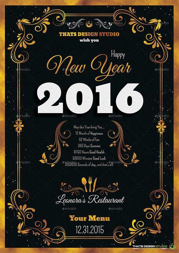 13+ New Year Menu Templates – Free PSD, EPS, Illustrator, PDF ...
