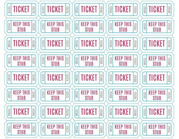 Free Printable Raffle Tickets | Printable raffle tickets, Raffle ...