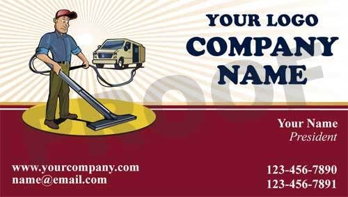 Carpet Cleaning Business Card Magnets, Carpet Cleaner Marketing