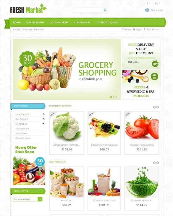 29+ Grocery Store Website Themes & Templates | Free & Premium ...