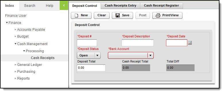 Cash Receipts-Manage Cash Payments and Deposits - Infinite Campus