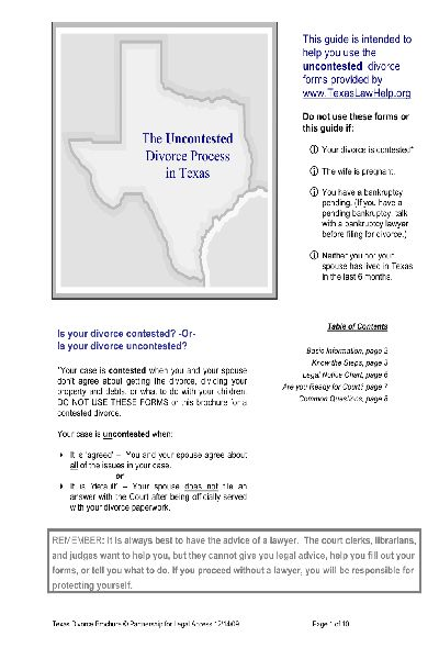 Share Form::Texas Divorce Process-3057