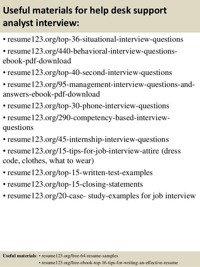 Top 8 help desk support analyst resume samples