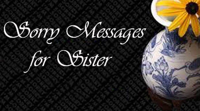 Sorry Messages for Sister, Best Sister Message