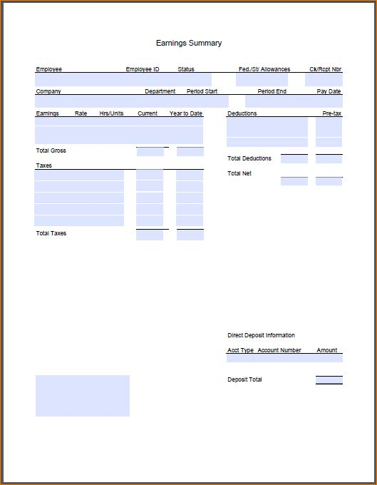 8+ Pay Stub Template Pdf | Timeline Template