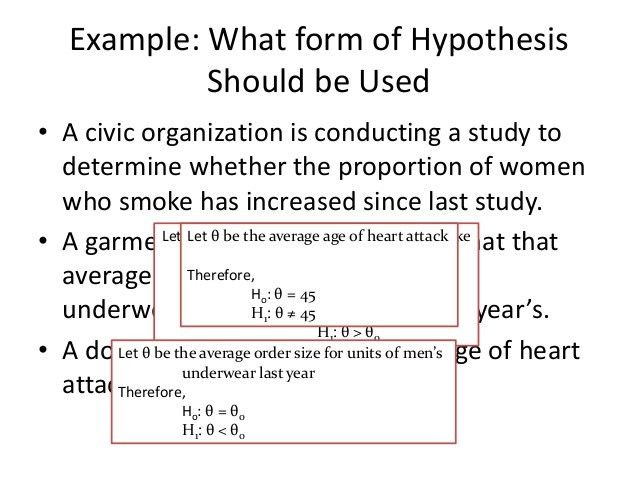 STATISTICS: Hypothesis Testing