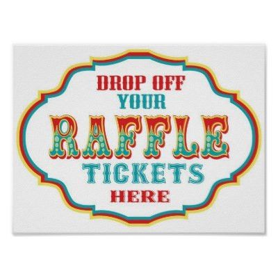 Carnival or Circus Raffle Ticket Sign | Zazzle.com