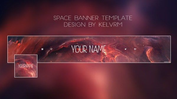 Abstract 2 - Youtube banner template | Kelv Designs™ - Sellfy.com