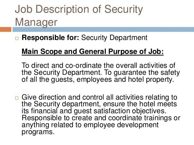 security supervisor duties security supervisor resume sample