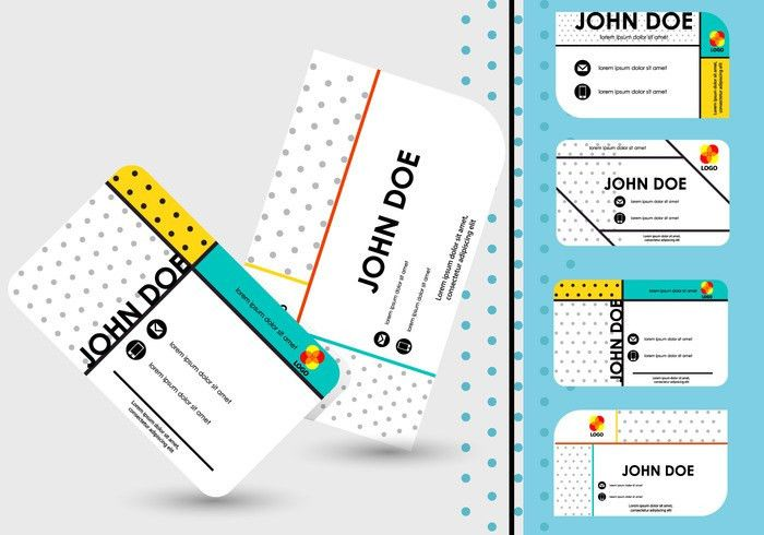Name Card Template Design - Download Free Vector Art, Stock ...