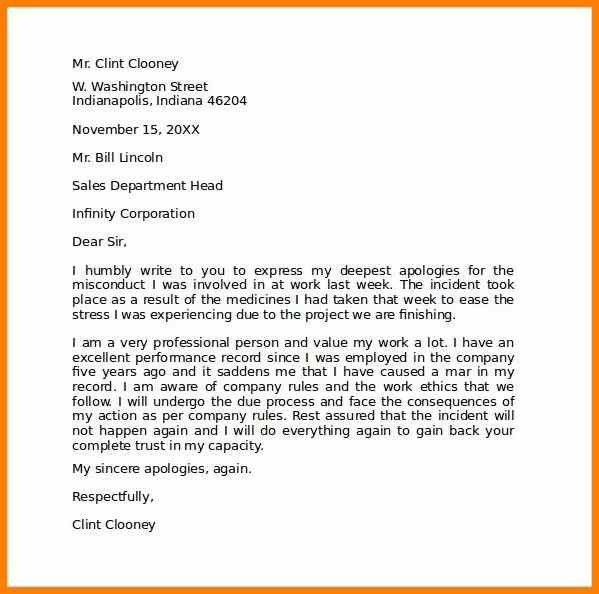6+ apology letter to boss | report example