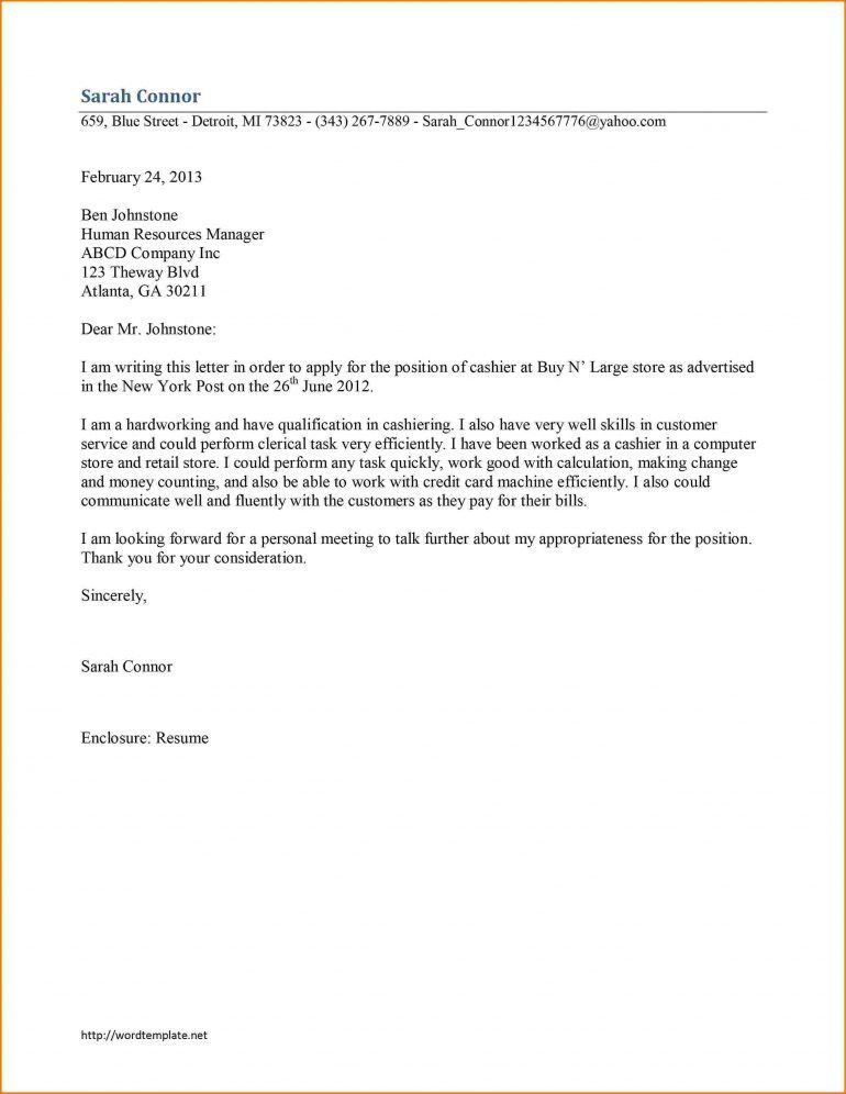 Cashier Cover Letter Examples Resume - Schoodie.com