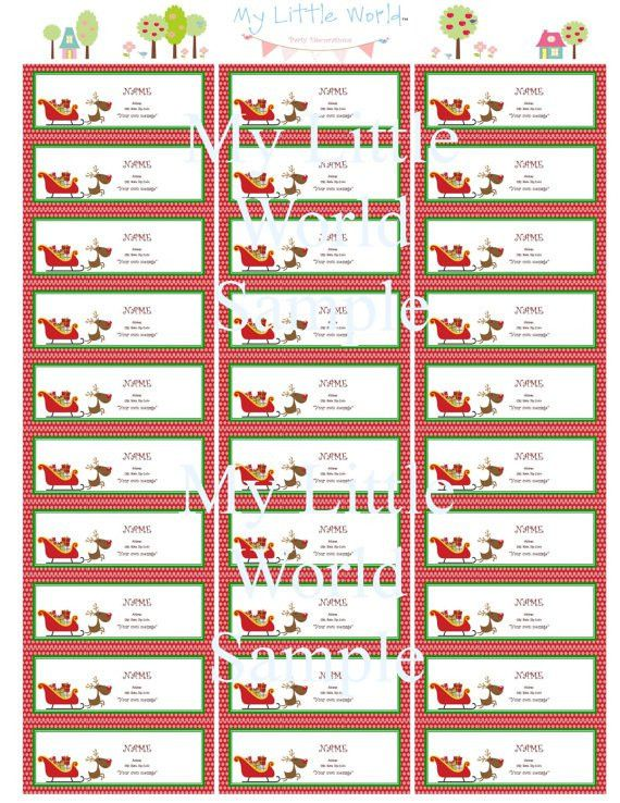 Free Printable Christmas Address Labels – Happy Holidays!